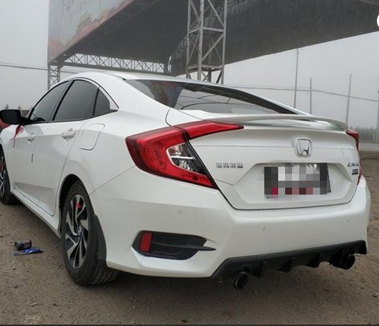 2015 2016 2017 2018 new  spoiler for honda civic by primer or balck white color paint ABS high quality spoiler no light2015 2016 2017 2018 new  spoiler for honda civic by primer or balck white color paint ABS high quality spoiler no light