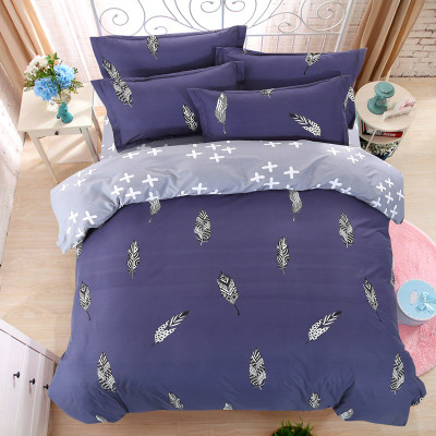 Bedclothes 4PC Bedding Sets Polyester Duvet Cover+1 set Bed Sheet+1 Pillowcases+2 Twin Full Queen King Super