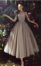 Новинка 2019 женское платье с глубоким вырезом и блестками Тюлевое