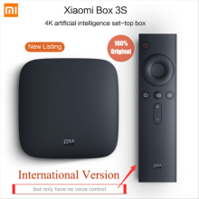 Global Multi-langue Version Xiaomi Mi TV Box 3 Android 6.0 4 K 8 GB HD WiFi Bluetooth Youtube DTS Dolby IPTV Smart Media Player