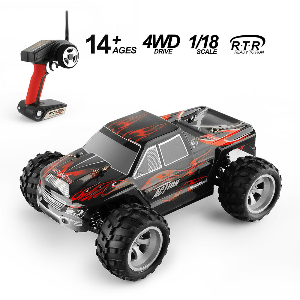 GizmoVine wltoys A979 RC Car 2.4G Radio Controled Machine Scale 1:18 Rally Shockproof Rubber wheels Buggy High speed rc car