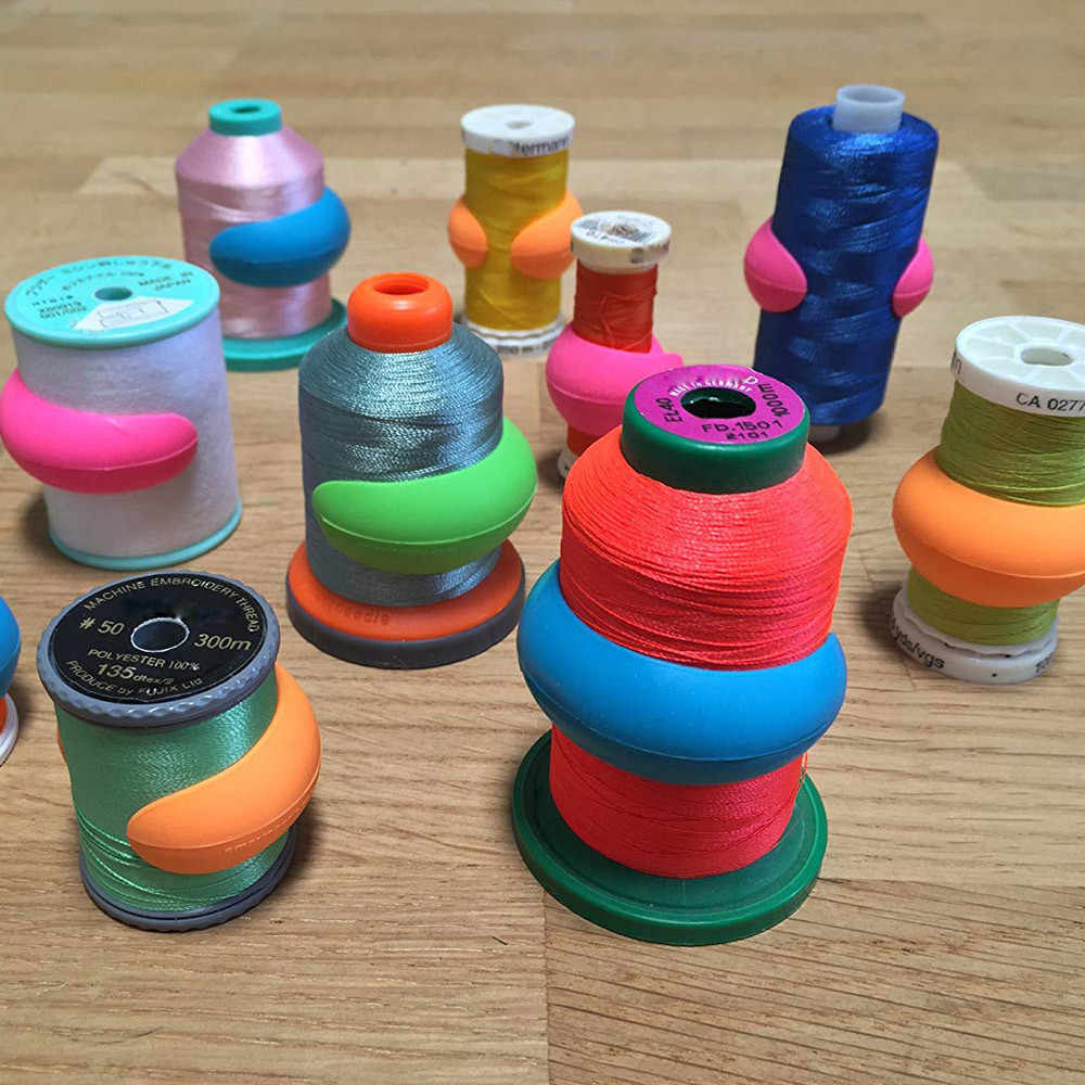 8/16/24/32/40/48pcs Bobbin Clamps Holders Thread Spool Huggers Keep Thread Spools From Unwinding Sewing Accessories