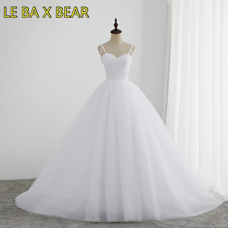 LE BA X BEAR robe de bal bretelles spaghetti robe de mariée avec top paillettes princesse grande jupe de mariage sur mesure robe à lacets
