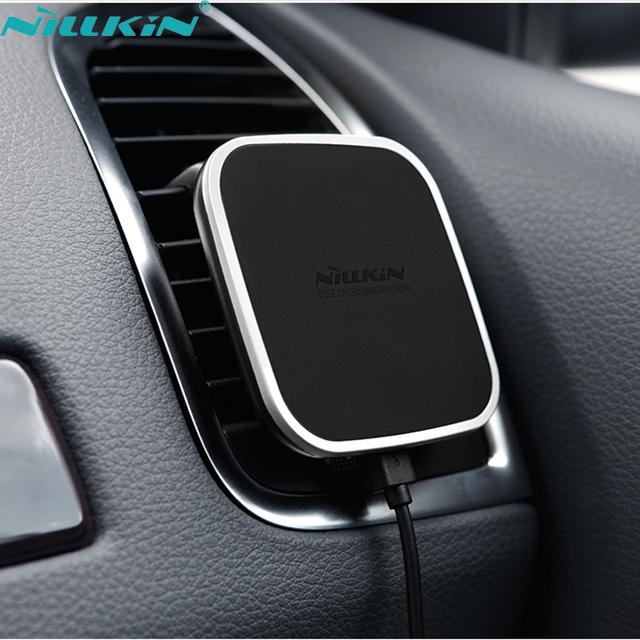 Nillkin qi inalámbrica cargador de coche magnético holder air vent mount pad para samsung s6 s7 s7 borde nota 5 nota 7 para iphone 6 7 plus