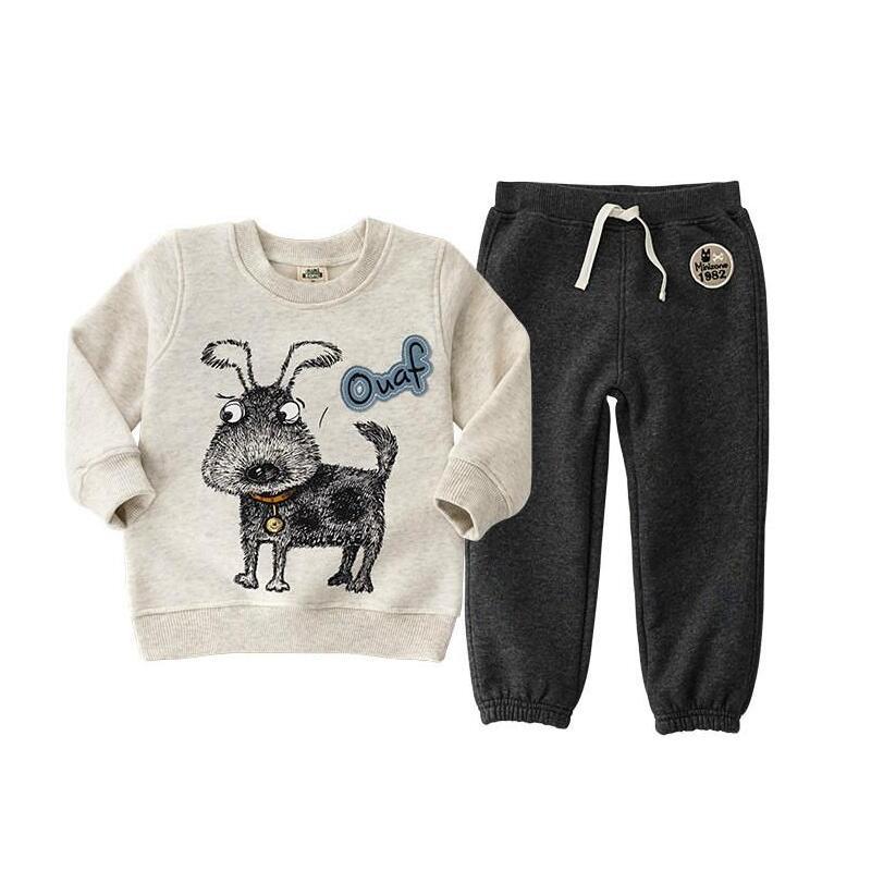 2019 mode beer kleding sets voor kinderkleding, kinderen 3-6Y T-shirt + broek voor Apring herfst casual kind kleding past