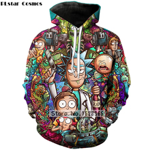 PLstar Cosmos Brand clothing 2018 New Fashion 3D Hoodies cartoon rick and morty 3D Print Men Women hooded sweatshirt Pullovers