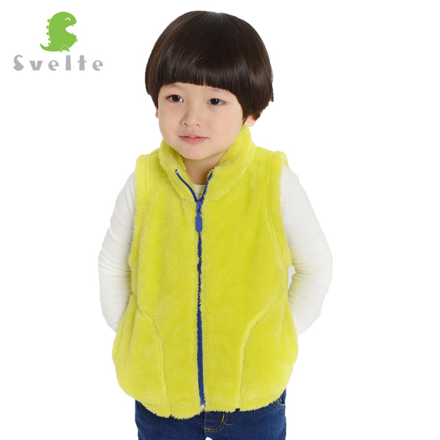 Svelte Brand Spring Children Kids Boys Girls Unisex Super Soft Polar Fleece Warmth Vests Outside Soft Fur Full Zipper Waistcoats