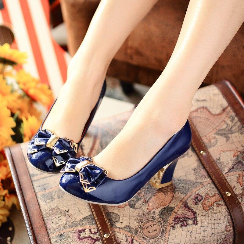 2017 High Heel Shoes Sexy Ankle Straps Square Heels Fashion Women Platform Pumps Wedding Shoes size
