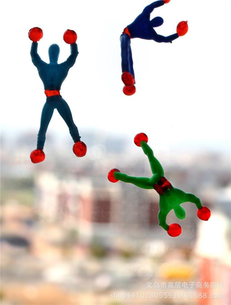 HOT Children's <font><b>Toys</b></font> Free shipping <font><b>climbing</b></font> <font><b>spider</b></font> <font><b>man</b></font> sticky <font><b>climbing</b></font> wall Superman nostalgic <font><b>toys</b></font> for children kids 5pcs/Lot
