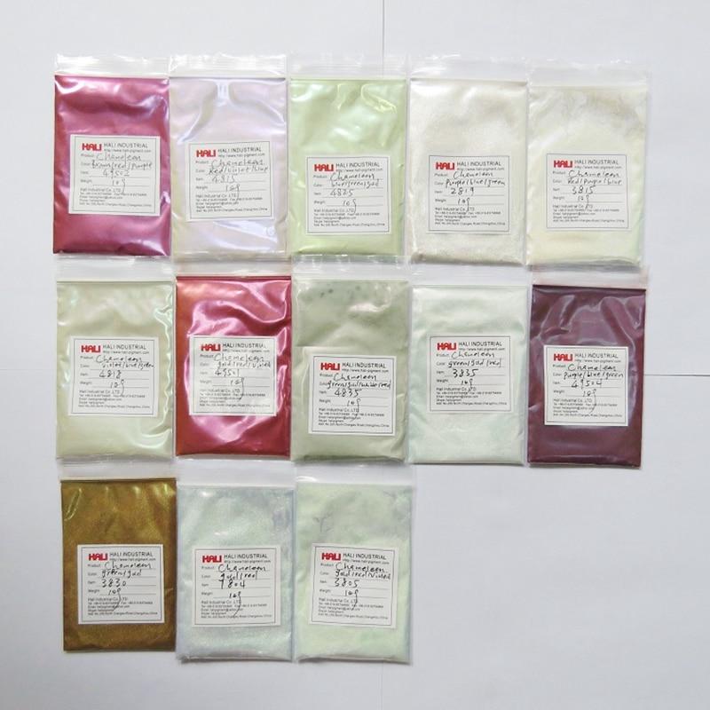 chameleon powder color change pigment automobile pigment high quality 1lot 13colors 10gram per color total 130g