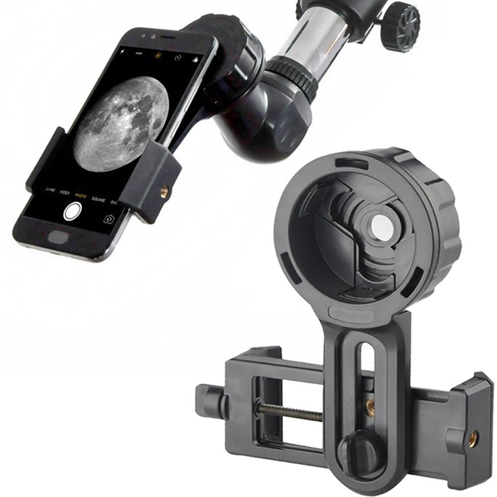 Teléfono Quick fotografía soporte adaptador montaje para el conector telescopio prismáticos monocular microscopio para iphone samsung