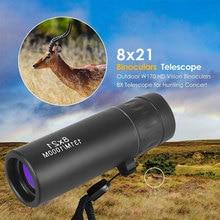 HD Telescope Portable Illumination Outdoors Night Vision Goggles 8×21 Black ABS Measuring Monocular Telescope Viewing Glasses