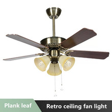 Modern minimalist ceiling fan light wood leaf LED smart mute dimming AC 220V 3642 inch dimmer for factory office living room