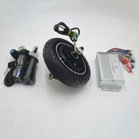 24V 36V 48V 8Inch wheel motor kit for Mini scooter Wheel Hub Motor 350W Brushless Non Gear Hub Motor with controller throttle