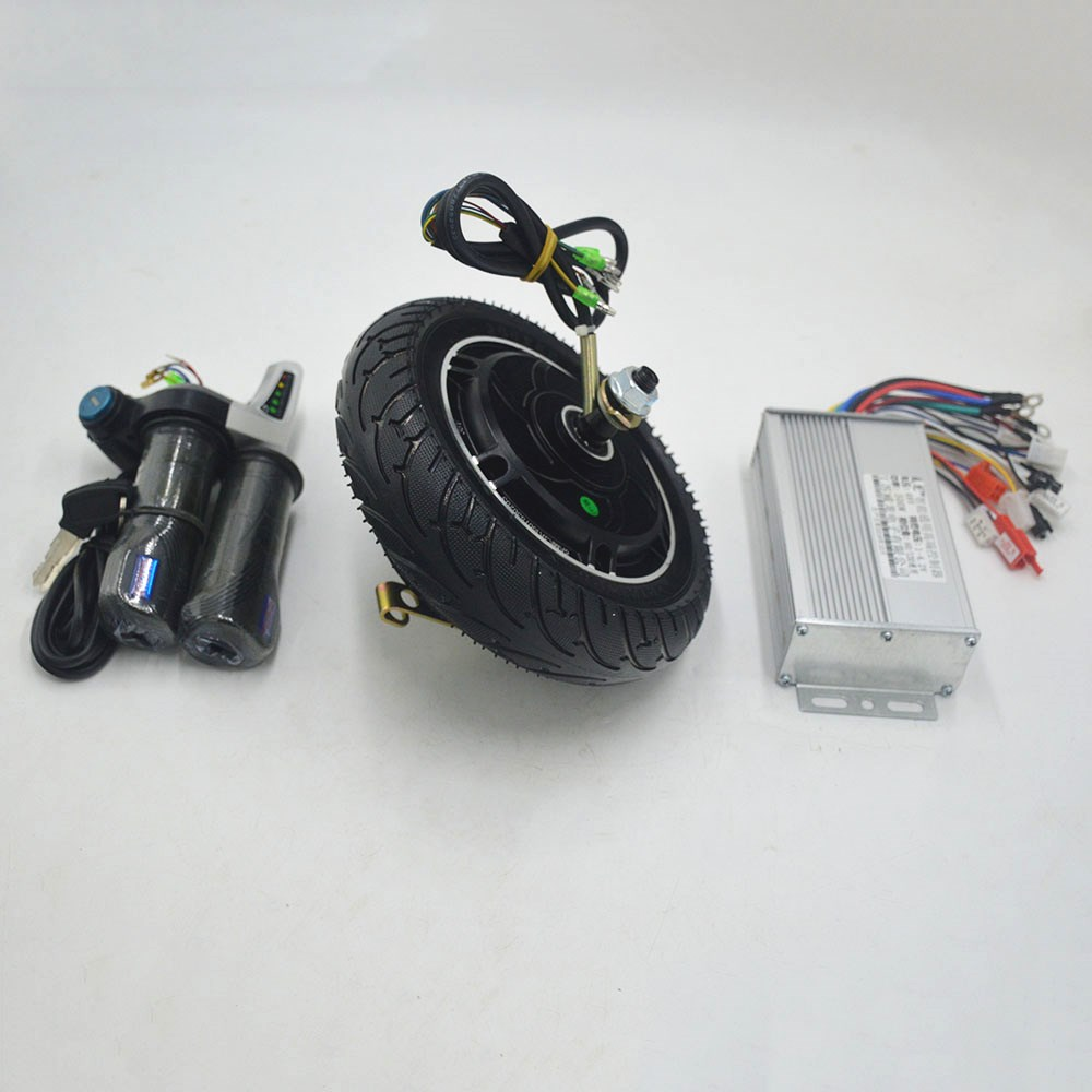 24V 36V 48V 8Inch wheel motor kit for Mini scooter Wheel Hub Motor 350W Brushless Non-Gear Hub Motor with controller throttle high speed 24v 36v 48v 350w ebike brushless gearless mini hub motor rear wheel with 7 speed gear hub dropout 135mm