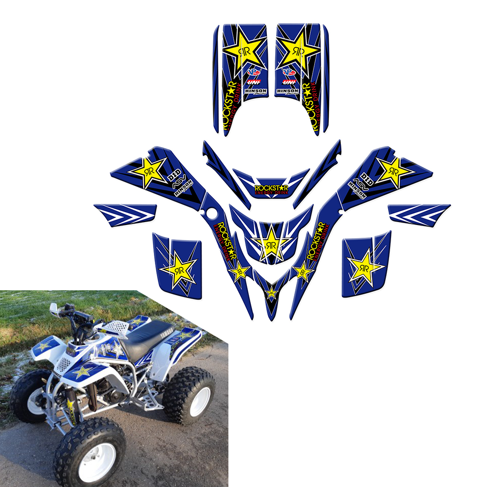 New Style Rockstar Decals Stickers Graphics For Yamaha Blaster 200 YFS200 YFS 200 1988-2006 ATV  Wrap Full Race Kits