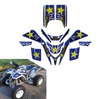 New Style Rockstar Decals Stickers Graphics For Yamaha Blaster 200 YFS200 YFS 200 1988 2006 ATV Wrap Full Race Kits
