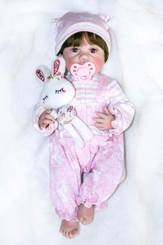 40 cm Full Body Silicone Vinyle Reborn Baby Doll 16 pouces Nouveau-Né filles Bébés Poupée Jouet De Bain Enfant Cadeau D'anniversaire Présente Des Enfants jouer