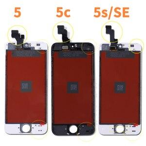 Image 2 - Tela lcd para iphone 6 5 5c 5S se 7 8 plus, touch screen substituição para iphone 4 4S 6s + vidro temperado + ferramentas + estojo de tpu