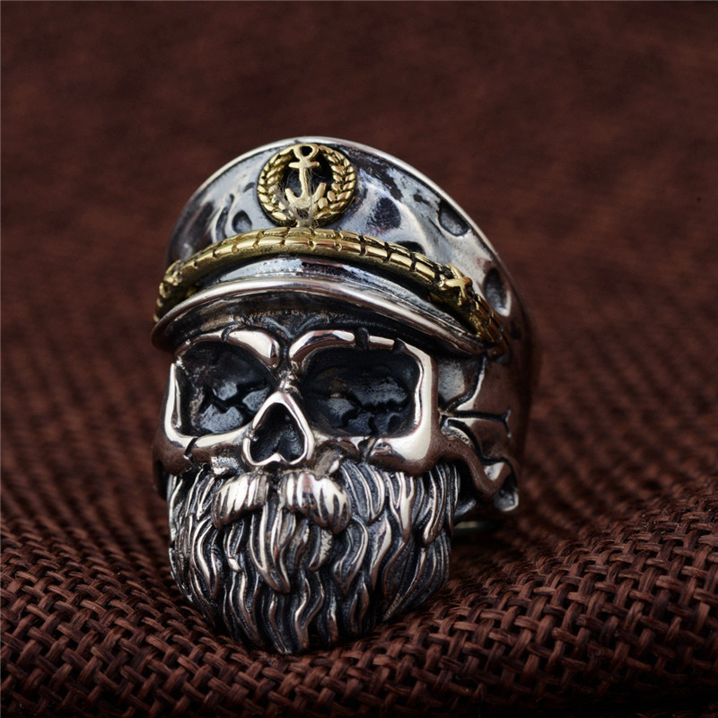 купить 925 Sterling Silver High Detail Skull Cross Ring Mens Biker Ring for Men Gift Punk Fashion Open Ring Thai Silver Jewelry Anillos по цене 2282.74 рублей