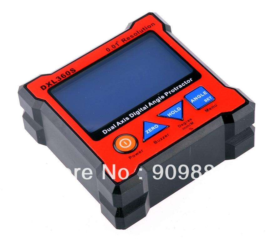 New Model DXL360 S C V2 Digital Protractor Inclinometer Dual Axis Level Measure Box Angle Ruler