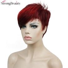 Сильная красота короткие синтетические парики женщин или мужчин волосы термостойкий парик