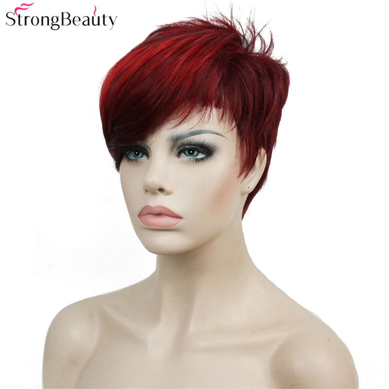Strong Beauty Short Synthetic Wigs Women Or Men Hair Heat Resistant Wig