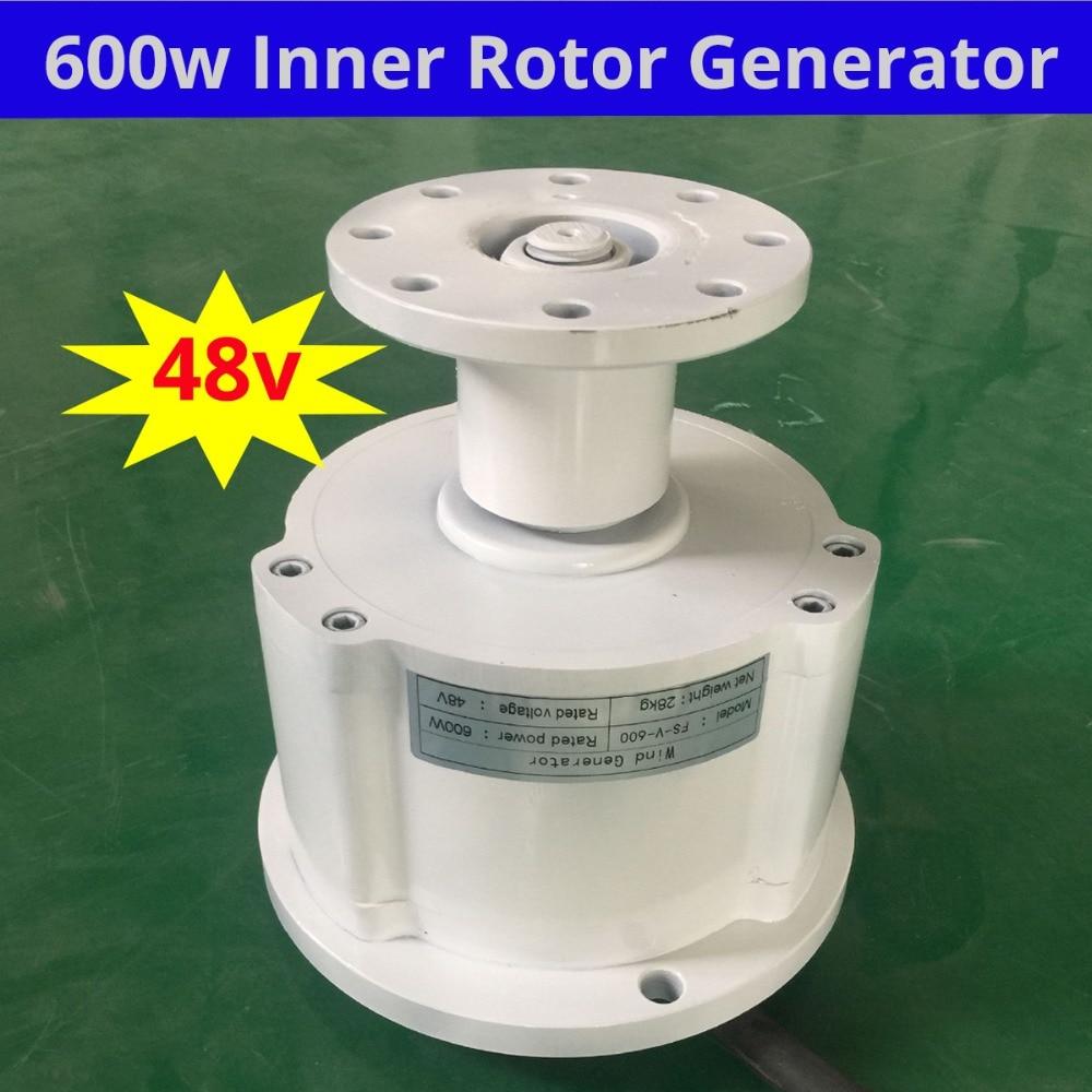 VERTICAL axies 600w 48V brushless ac rare earth permanent magnet alternator/ alternative energy generator three phase недорго, оригинальная цена