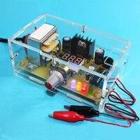 US Plug 110V DIY LM317 Adjustable Voltage Power Supply Board Kit