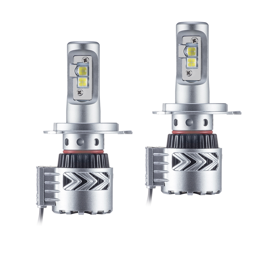 2x Car LED Headlight H4 Hi-Lo Beam 72W Fog Driving lamp Headlights Auto 9003 HB2 High Low Beam Bulb Auto Conversion Kit
