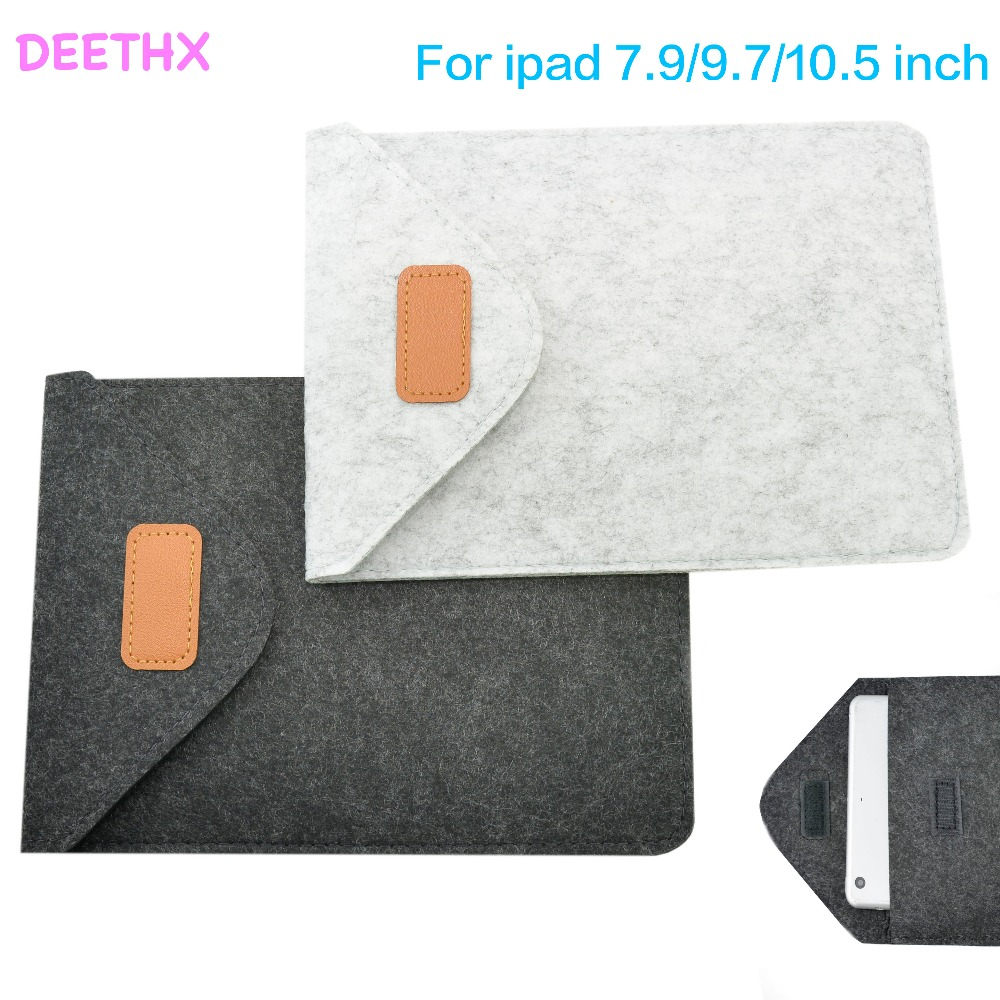 7.9 inch Felt Sleeve Bag Case For iPad mini 1/2/3/4 Tablet Cover Pouch PC Bag,9.7 for ipad 2/3/4,new 9.7,pro 9.7/10.5,Air1/2
