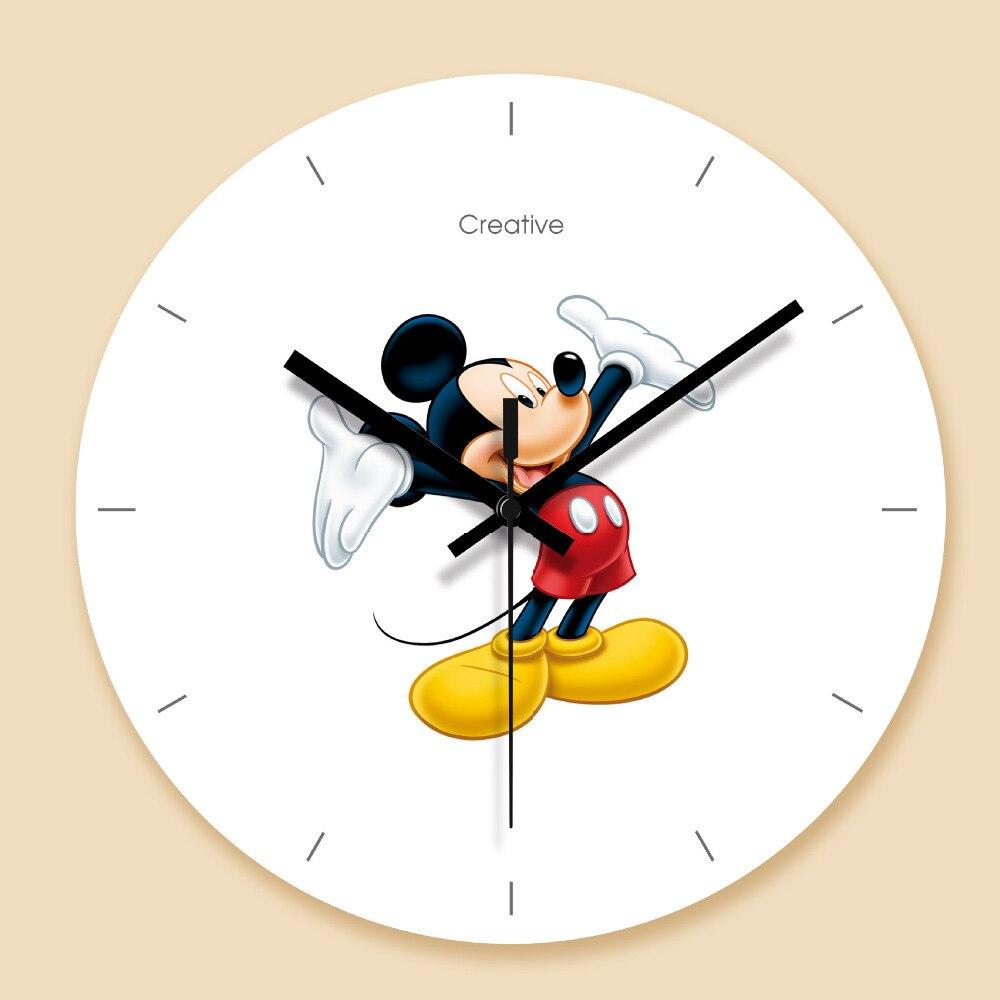 Non ticking Wall Clock Mickey Mouse Wall Clock Cartoon