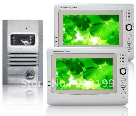 New 7inch wired video door phone/doorphone/intercom system,6 LED lights ,nightvision ( 1 to 2)