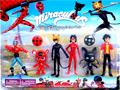 6pcs/set Miraculous Ladybug Cat Noir Adrien Marinette Plagg Tikki PVC Action Figure Doll Kids Toy For Gift