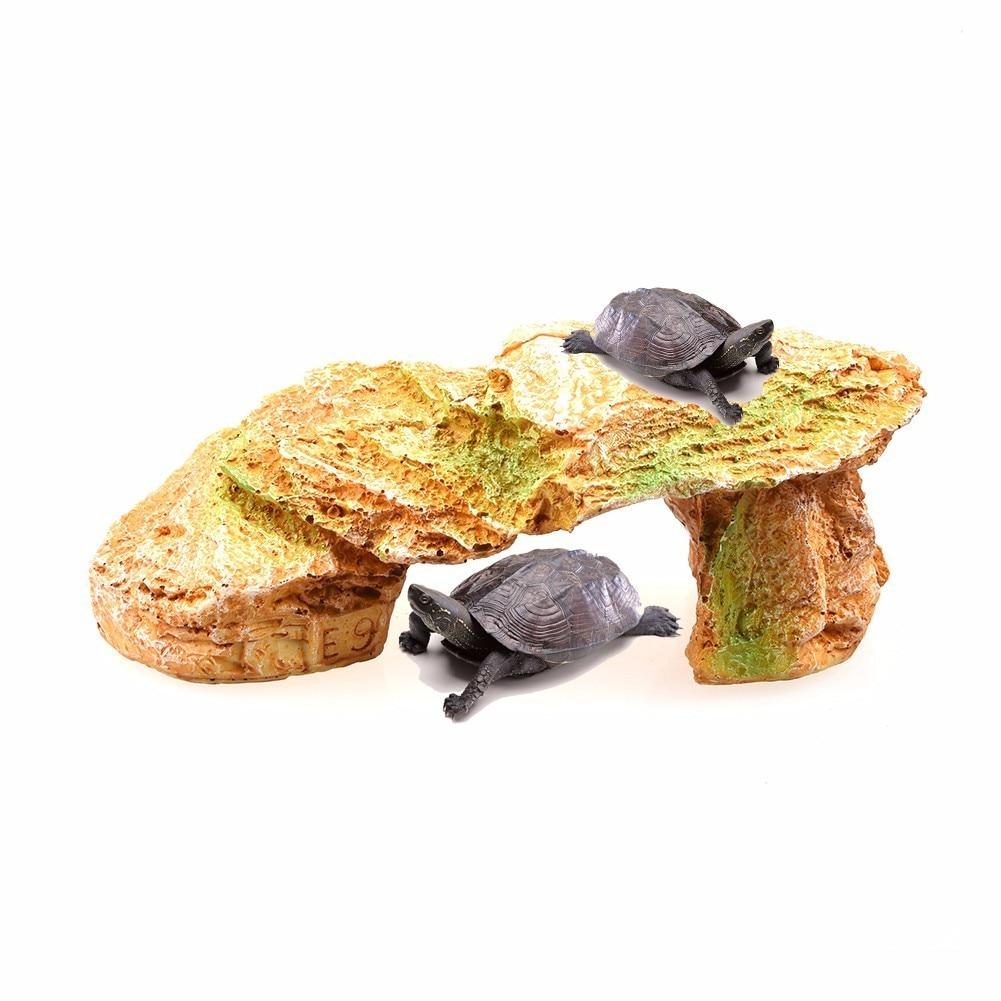 Umělá platforma roh Ramp-obojživelný želva, plazi Habitate.entertain, skrýt, koupání na slunci nejnovější 2017