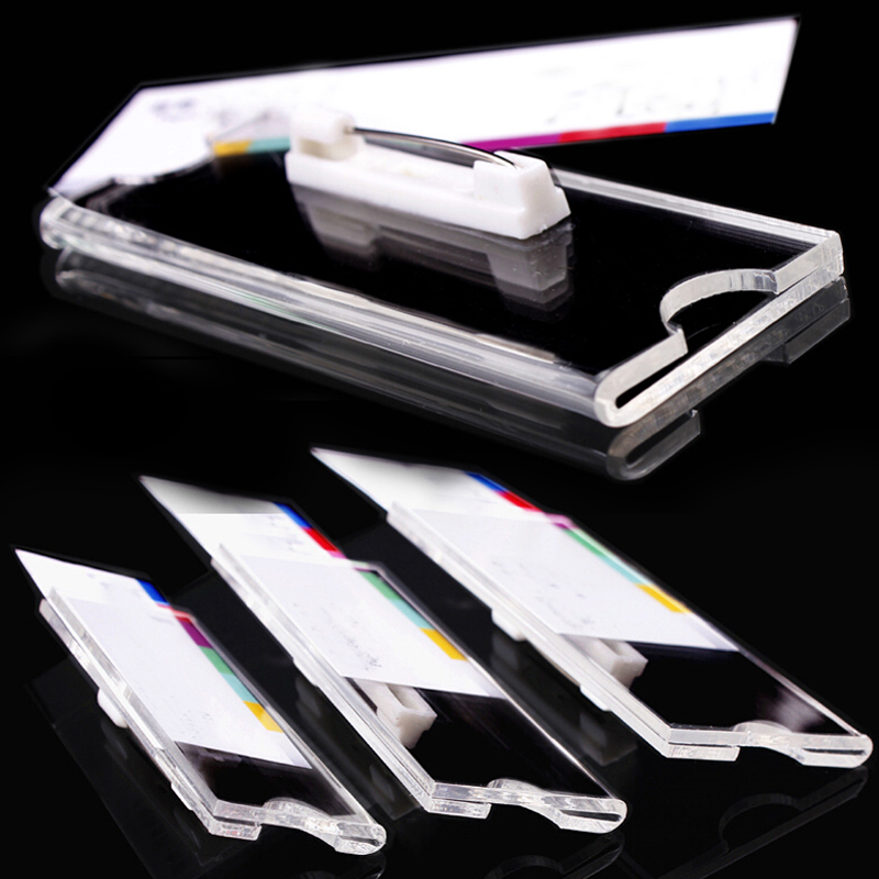 30pcs Clear Badge Holder Brooch Style 50x20mm School Office Supplies High Quality ABS Store Staff Card Bank Cards ID Cards