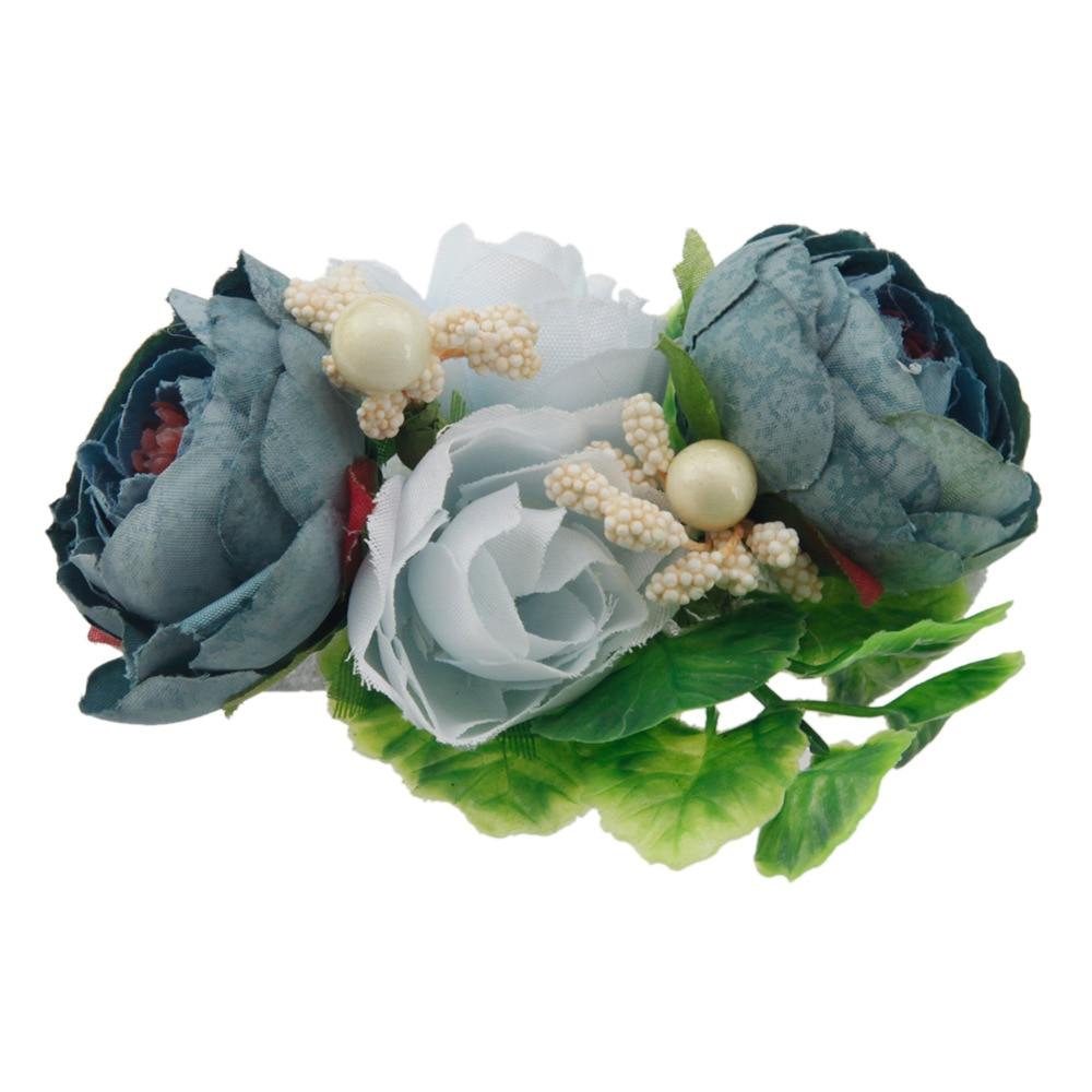 Wholesale Girls Rose Flower Hair Clips New Artificial Flower
