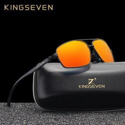 KINGSEVEN Brand Designer Polarized Sunglasses Men Women Red Mirror Driving Sun Glasses For Men High Quality Shades Oculos N7088