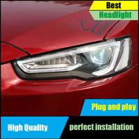 Head Lamp case for Mitsubishi Lancer Headlight Assembly 2009 2016 LED Headlights Option DRL Hid Bi Xenon High Low Beam Front