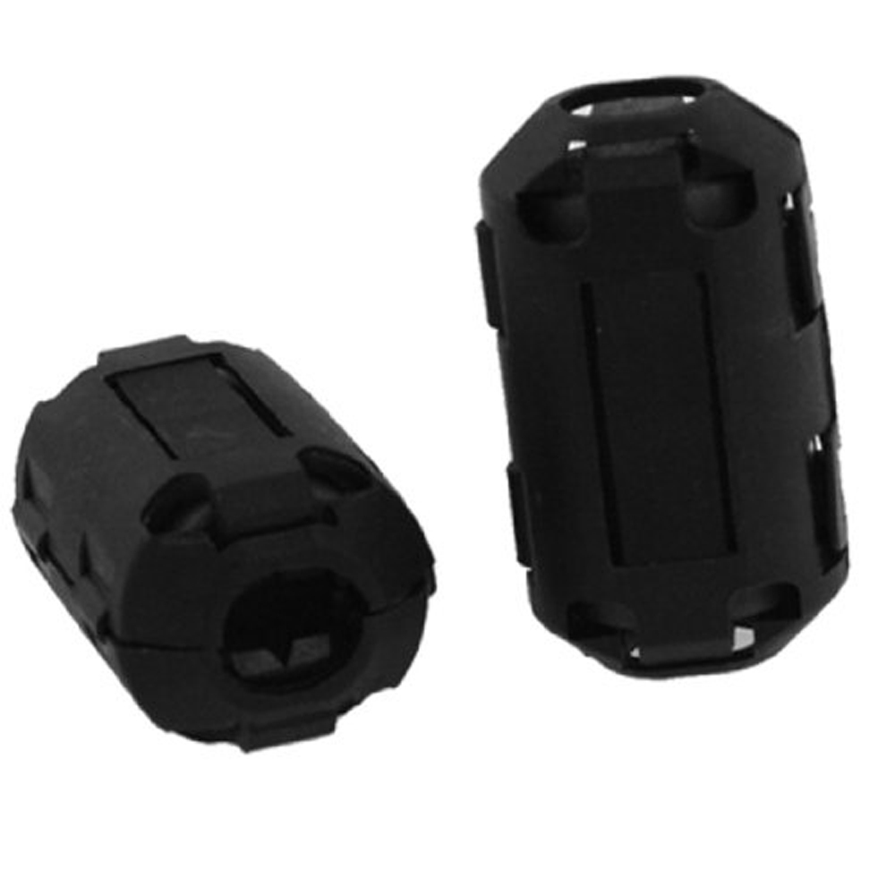 5pcs 10mm clip on noise suppressor EMI//EMC cable clamp ferrite core split Filter