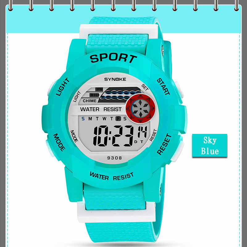 Children Kids LED Digital Watch Sports Luminous Waterproof Wristwatch Gifts LL@17
