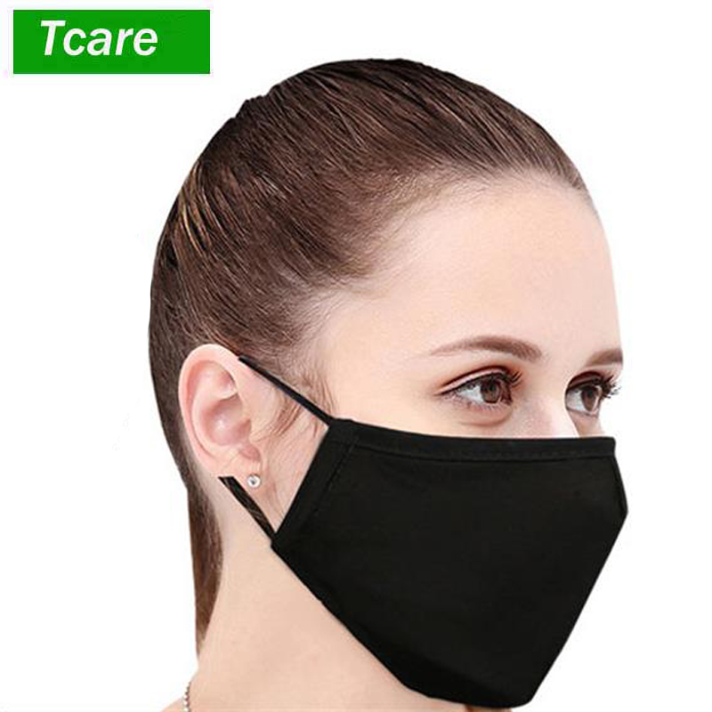 1Pcs Cotton PM2.5 Black Mouth Mask Anti Dust Mask Activated Carbon Filter Windproof Mouth-muffle Bacteria Proof Flu Face Masks