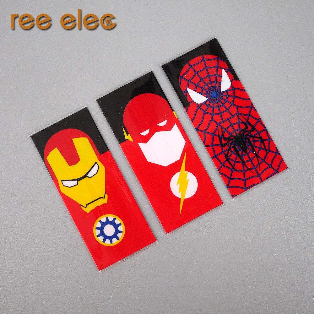 РЗЭ Елец 100 шт. 18650 Батарея защищены <font><b>Wrapper</b></font> супер герой Батарея кожи Стикеры для электронной сигареты Человек-паук Капитан американский