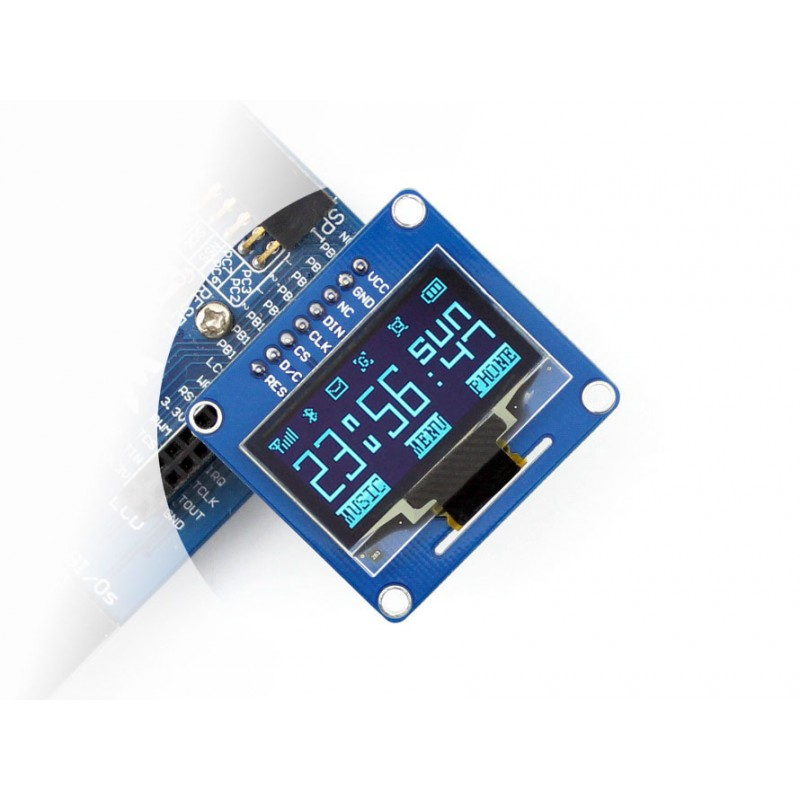 module Waveshare 10pcs/lot 1.3inch OLED (B) LCD LED Display Module SH1106 128*64 SPI I2C Interfaces Straight/Vertical Pinheader 1 3 inch 128x64 oled display module blue 7 pins spi interface diy oled screen diplay compatible for arduino