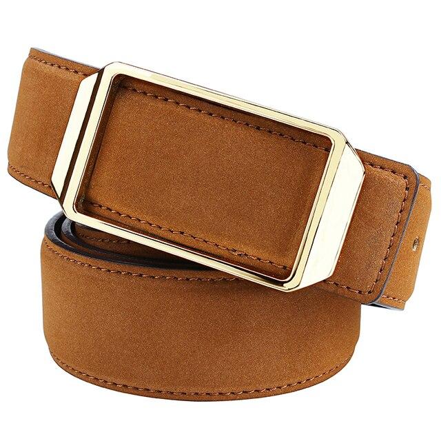 Luxury Brown Genuine Ostrich Leather Skin Men/'s Belt W 1.3 inch