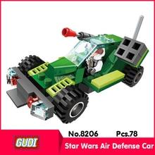GUDI 8206 78Pcs Star Wars Series Star Wars Air Defense Car Model Building Blocks Bricks Toys compatible  children Toys