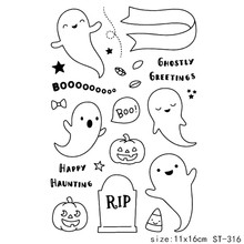 ZhuoAng Halloween/Halloween candy Transparent and Clear Stamp DIY Scrapbooking Album Card Making Decoration