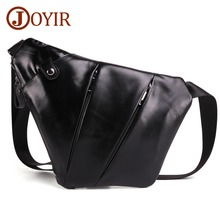 JOYIR New Design Compact Chest Bags Anti Theft Single Shoulder for Men Genuine Leather Crossbody Messenger Bag