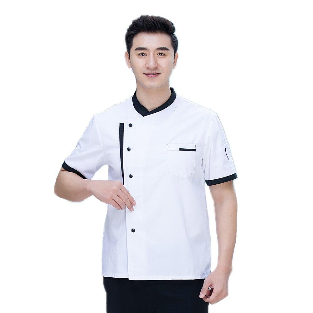 New Summer Unisex Short Sleeve Chef Jacket Uniform Restaurant Hotel Working Wear Man Woman Coat Kitchen Work Clothes Overalls