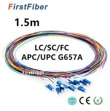 ファイバピグテール 12 色 1.5 メートル sc/LC/FC/APC/UPC 繊維ピグテールケーブル G657A 12 コア 12 繊維シンプレックスシングルモード 0.9 ミリメートル